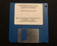 Hyperstudio IIgs Quick Course Teacher Solutions Disk 3.5 Floppy 1995
