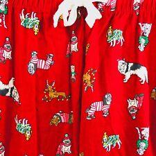 Old Navy Womens Pajama Pant Sz XS Red Flannel Christmas Dog Pug Doxie Corgi T315