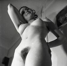 NU NUDE PHOTO FOTO 20x20CM REPRINT FROM ORIGINAL 1960's vintage neg 43