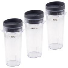 New listing 3 Pack 16 oz Cup with Lid for Nutri Ninja Bl660 Bl663 Bl740 Bl780 Bl810 Bl830
