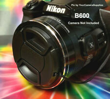 B600: SNAP-ON FRONT LENS CAP DIRECTLY to CAMERA NIKON COOLPIX B600 B 600+HOLDER