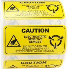 Caution Sensitive Electronic Devices Labels 1 x 2 Inch 500 Adhesive Stickers