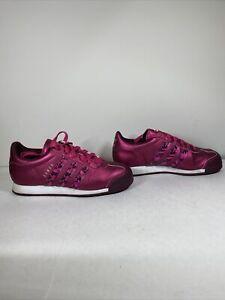 Adidas Somoa Pink, Floral Print Stripes Women's Shoes Size 7.5