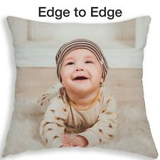 Personalised Cushion Photo Pillow Gift Free Filling Edge - Edge Personal Print