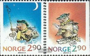 Norway 1007-1008 (complete issue) unmounted mint / never hinged 1988 christmas