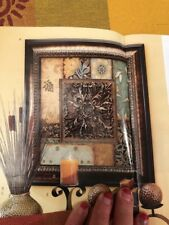 * Home Interiors & Gifts Patchwork Medallion Framed Art