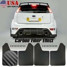 4x Rally Universal Carbon Fiber Effect Mud Flaps Mudflaps Mudguard Splash Guards