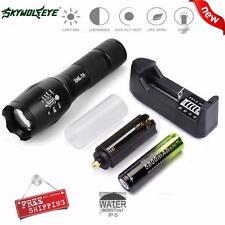 SKYWOLFEYE X800 Táctico Linternas LED Militar Antorcha G700 Cargador de batería