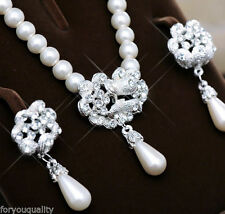 Crystal Pearl Alloy Costume Chokers