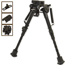 "6"" - 9"" Harris Style Bipod Hunting Shooting Air Rifle Gun With Free 3 Adapte New"
