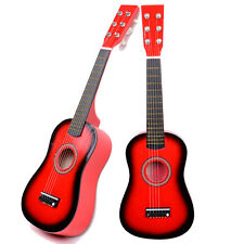 "New 23"" 15 Frets Plywood Toy 6 Strings Practice Children's Acoustic Guitar Red"