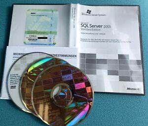 Microsoft SQL Server 2005 Standard Edition – 1 CPU / Prozessor, Deutsch, 32 Bit