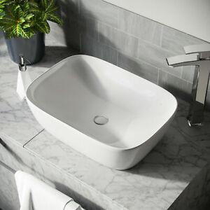 Bathroom Basin Sink Hand Wash Counter Top Rectangle Ceramic 455*320*135mm