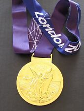 GOLD MEDAL - 2012 LONDON OLYMPICS - WITH SILK RIBBON & STORAGE POUCH