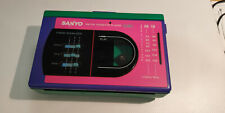 Sanyo vintage walkman AM/FM stereo casette player working