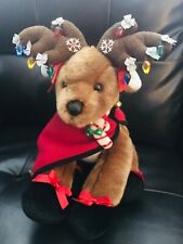 Build a Bear Reindeer Loaded with Accessories & Condo 16in Nib Christmas Holiday