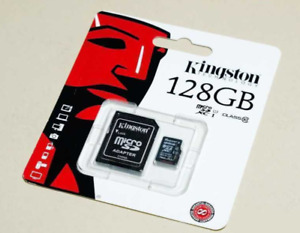 Kingston 64/128GB Micro SD Card SDXC TF Memory Card Class 10 UHS 1 + SD Adapter
