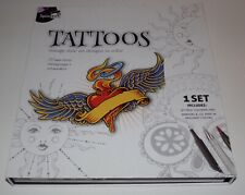 SpiceBox Tattoos Vintage Style Art Designs To Color - Brand New