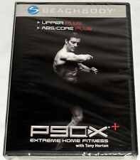 P90X Upper Plus ABS/ Core Plus Extreme Home Fitness w Tony Horton New Sealed DVD