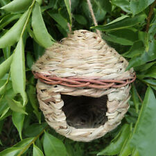 Wildlife Bird Lounge Nest Garden Birds Handmade Grass Pocket Bird House S #E