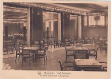 CPA BELGIQUE BELGIUM BRUXELLES hôtel métropole la salle de banquet