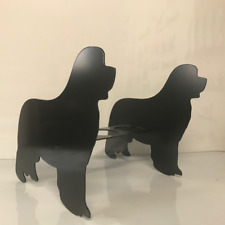 Newfoundland Newfie Dog Floor Standing Garden Patio Planter Pot Holder