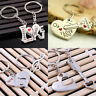 1Pair Chic Cool Couple Love Forever Heart Key Ring Keyfob Keychain Lover Gift
