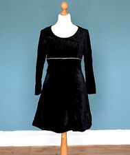Vintage 80's Velvet Dress Retro Boho Goth 8