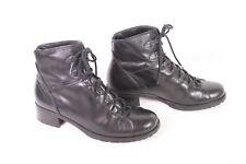 24D Gabor Damen Schnürstiefel Stiefeletten Leder schwarz Gr. 36 leicht weich