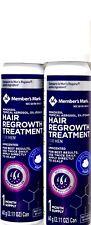 Member's Mark 5%25 Minoxidil Topical Foam Aerosol Hair Regrowth, 1 2 3 4 8 Months