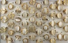 47pcs Wholesale Mixed Lots Big Charms Cat's-eye Stone Lady's Fashion Rings EH475