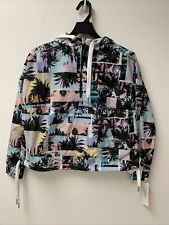 Calvin Klein Performance Printed 1/2 Zip Hooded Jacket, Size: S