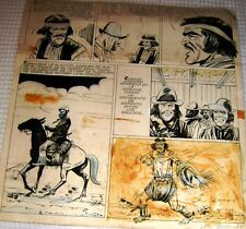 "JUAN OSCAR CAROVINI ORIGINAL ART PAGE SIGNED ""JUAN MOREIRA"" GAUCHO ARGENTINA 70s"