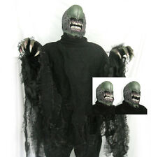 Deluxe Alien Creature Moving Mouth Rotting Shirt Gloves Adult Halloween Costume