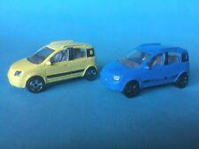 2x MAJORETTE REF 268 B FIAT PANDA 4x4 - ECH 1/55