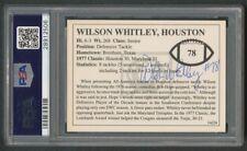 1992 COTTON BOWL WILSON WHITLEY HOUSTON CLASSIC MOMENTS AUTOGRAPH #14 PSA/DNA