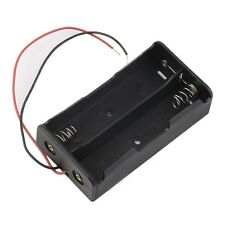 Plastic Battery Storage Case Box Holder For 2 x 18650 3.7V With Wire Leads XF