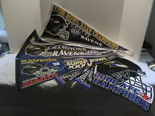 Baltimore Ravens Assorted Lot Of Banners Including Super Bowl XXXV