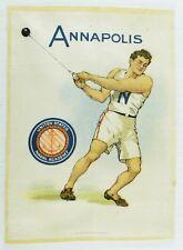 C.1910 Annapolis Us Naval Academy Sports Tobacco Silk Vintage Original #3