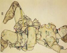 Egon Schiele Reclining Woman With Raised Skirt Canvas Print 16 x 20     # 4142