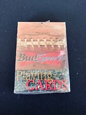 💥 🔥 Vtg 1999 Anheuser Busch Bud Sports Sealed Playing Cards ~ Bicycle no. 341