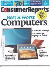 Consumer Reports Magazine June 2010 3D TV's Computers Gas Grills Lexus