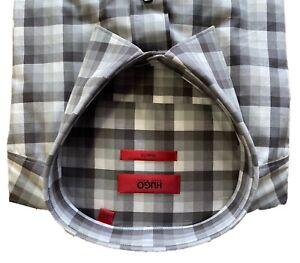 Hugo Boss Hemd grau kariert von HUGO red label Slim fit in XL NEU
