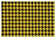Yellow and Black Houndstooth Canvas Tweed Fabric 55