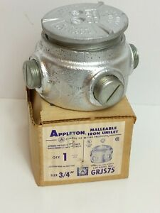 APPLETON ELECTRIC EXPLOSION PROOF GRJS75 Conduit Outlet Body,Iron (NOS)