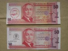 Philippines Lot of 2 pieces P50.00 SPECIAL IMPRINT Bank Notes - 2nd Assortment