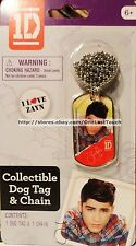 ONE DIRECTION Collectible Dog Tag I LOVE ZAYN Ball Chain Necklace 1D (carded)
