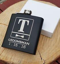Personalized Flask, Best Man Groomsmen Bridesmaid Gifts Wedding Present Bowtie