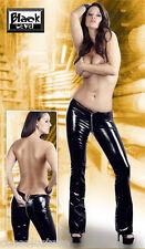 Pantaloni in PVC Vinile Nero Lucido Divisibili Cerniera Zip a Doppia Apertura XL