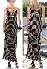 Maxikleid Shirt-Kleid Gr. 52/54 geringelt 908302 STRETCH  Neue Damenmode